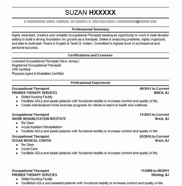 sample resume objectives for physical therapist