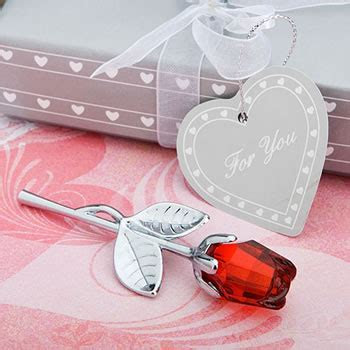 Choice Crystal Collection Red Rose Favors   Nice Price Favors