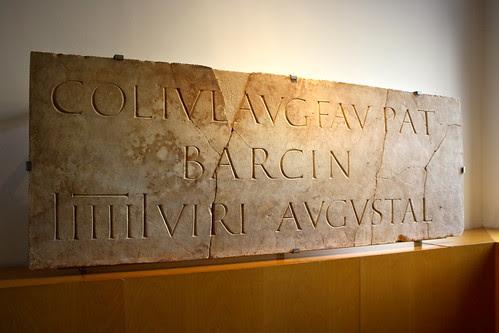 Epigraph, Barcelona History Museum, Spain