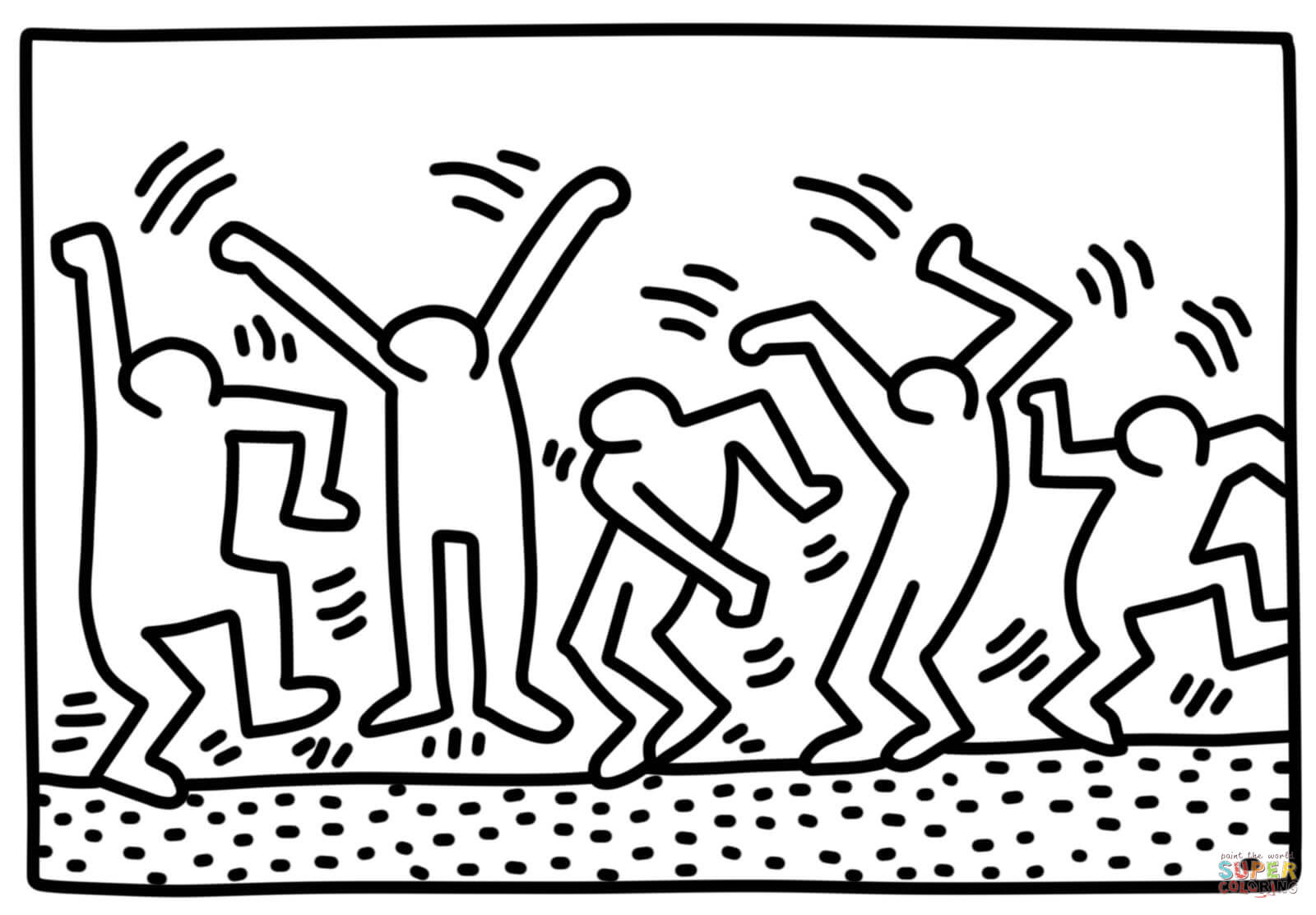 Inspirierend Keith Haring Ausmalbilder Ausdrucken