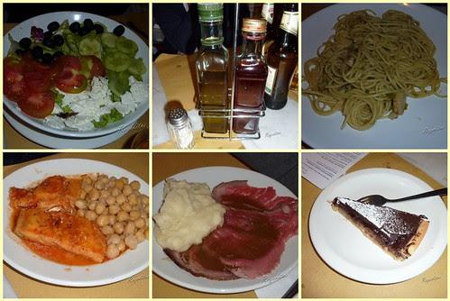 Comida en Oliandolo en Florencia