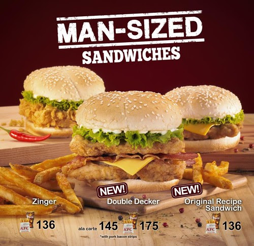 KFC Man-Sized Sandwiches