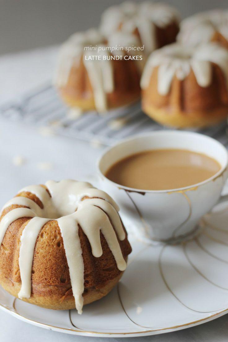 Mini Pumpkin Spiced Latte Bundt Cakes  Read more - http://www.stylemepretty.com/living/2013/10/30/mini-pumpkin-spiced-latte-bundt-cakes/