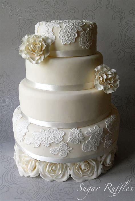 Lace Wedding Cakes 7   Stylish Eve