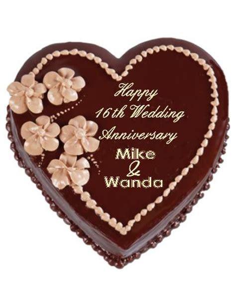 16th Wedding Anniversary Cake   Happy 16th Wedding