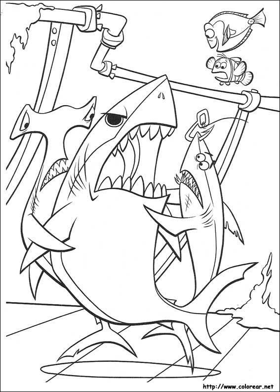 Dibujos Para Colorear De Buscando A Nemo
