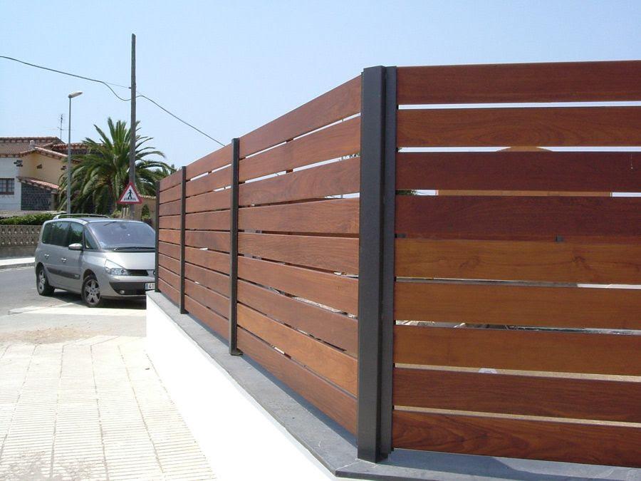 C mo decorar la casa vallas madera - Vallas para casas ...