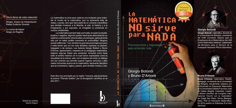 Ilustración y diseño de carátula. Las matemáticas no sirven para nada por Hache Holguín