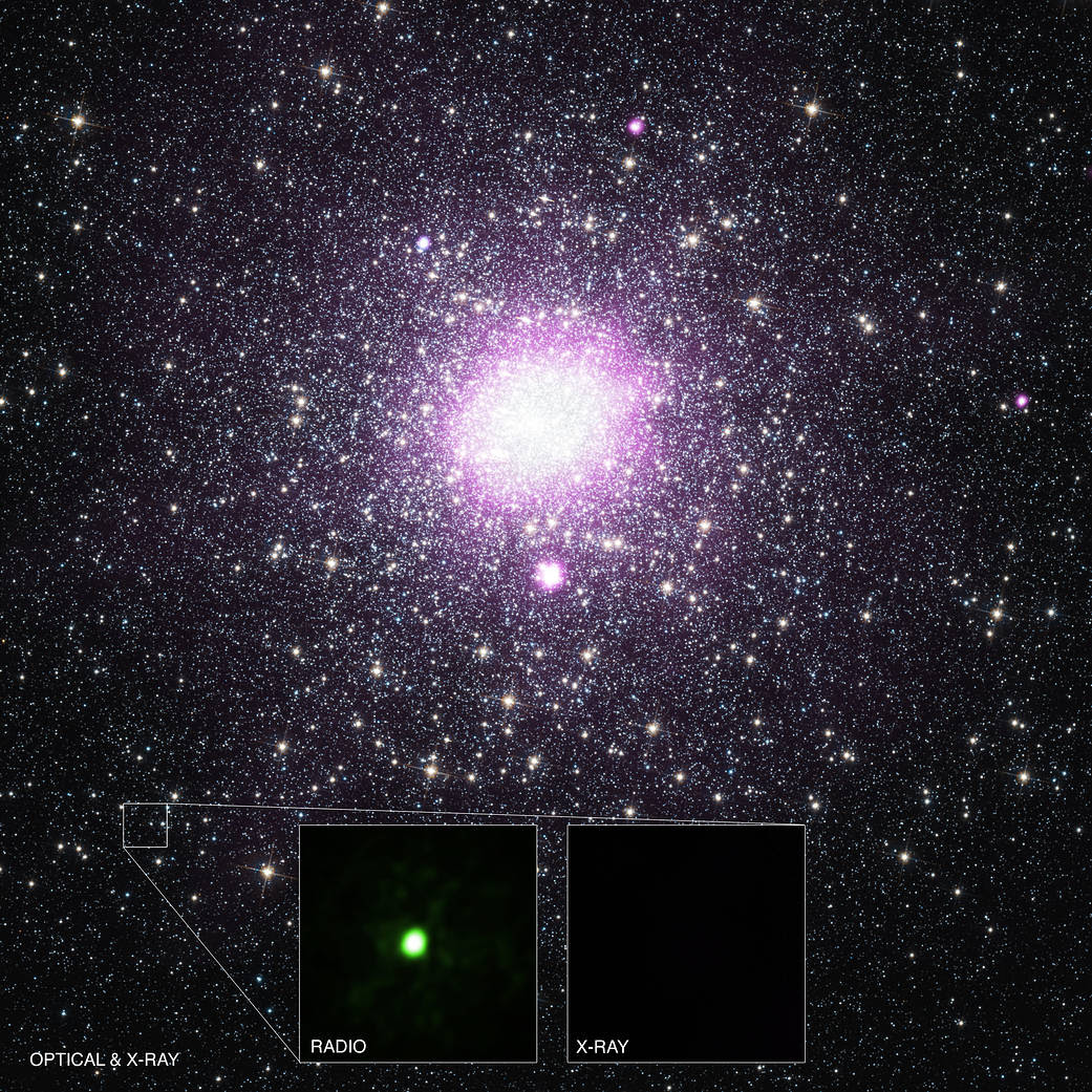 Object VLA J2130+12 close to the line of sight to the globular cluster M15.