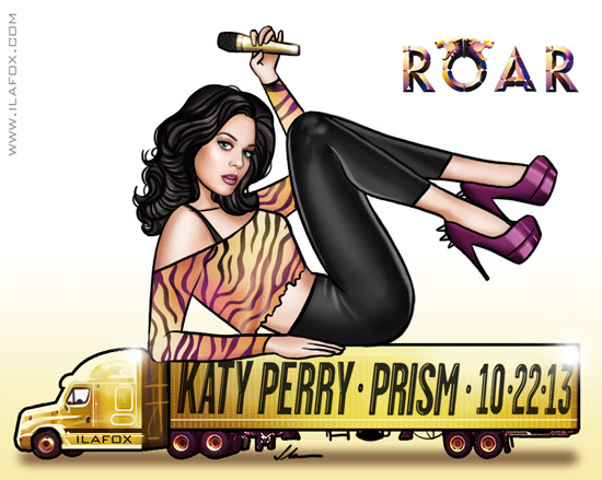 Katy Perry, prisma, prism, roar, art, ilustração by ila fox