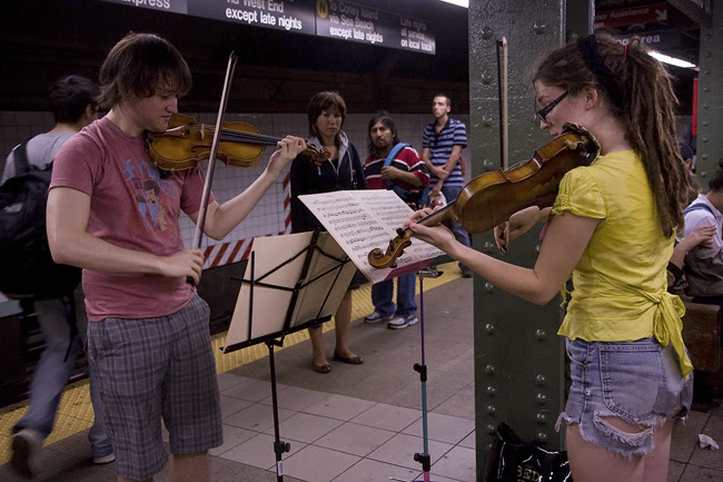 Violinists, NYC