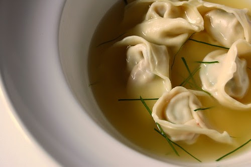 Pork Dumplings in a Kaffir Lime Leaf Broth© by Haalo