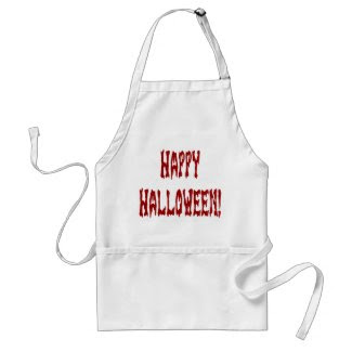 Happy Halloween Gore Text Aprons