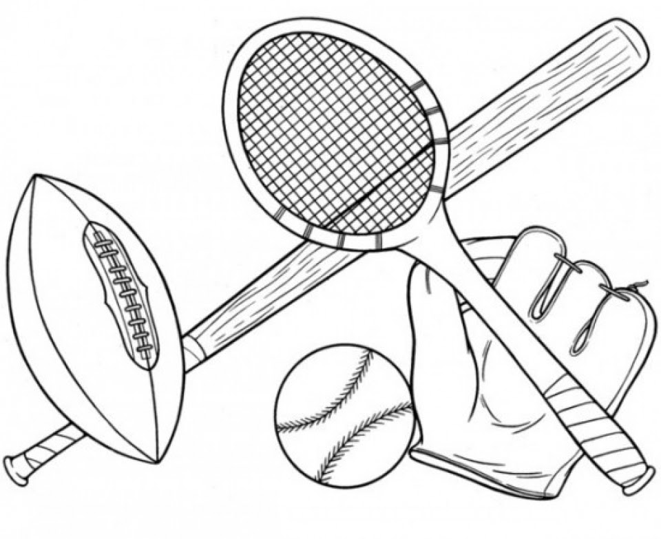 20 Free Printable Sports Coloring Pages EverFreeColoring.com