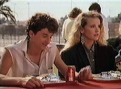 Ronnie and Cindy (Amanda Peterson) at lunch