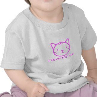 I Love My Cat Baby Tee Shirt