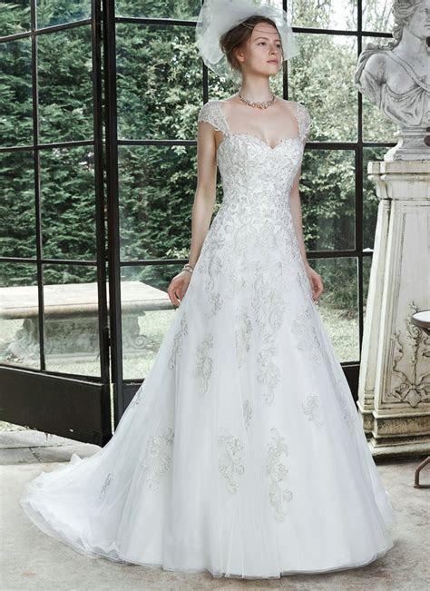 Princess Cut Wedding Dresses Detachable Cap Sleeve Wedding