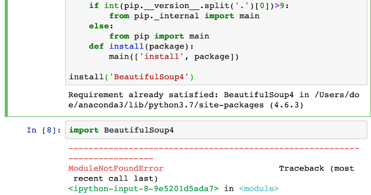Install beautifulsoup4 python 3 | What is the step  2019-02-18