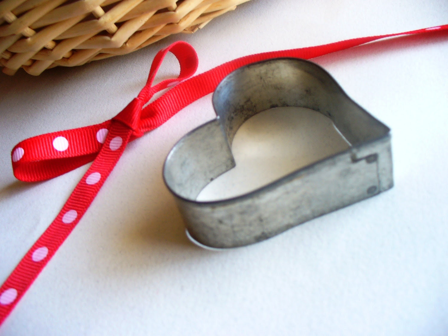 Rustic Valentine's Day Heart Cookie Cutter Farmhouse Chic