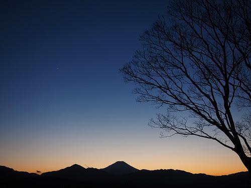 一番星と宵の富士