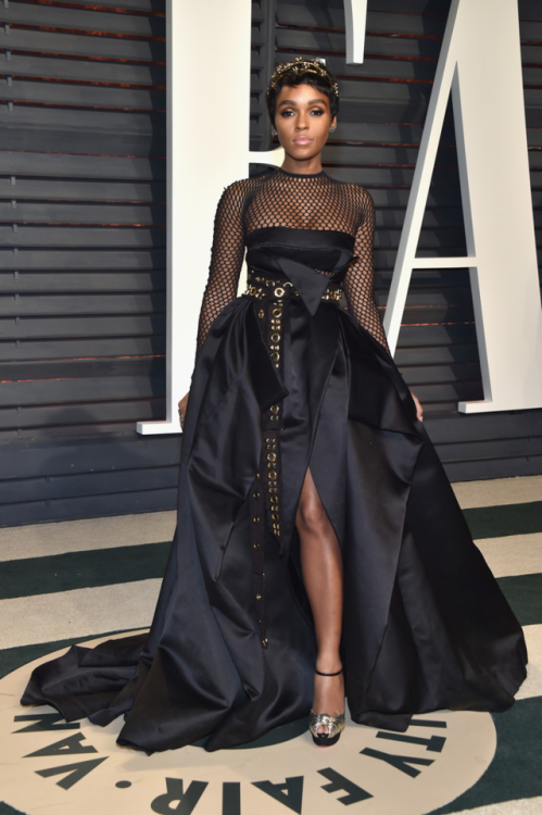 2/26/17 - Janelle Monae at the 2017 Vanity Fair Oscar Party in Beverly Hills.