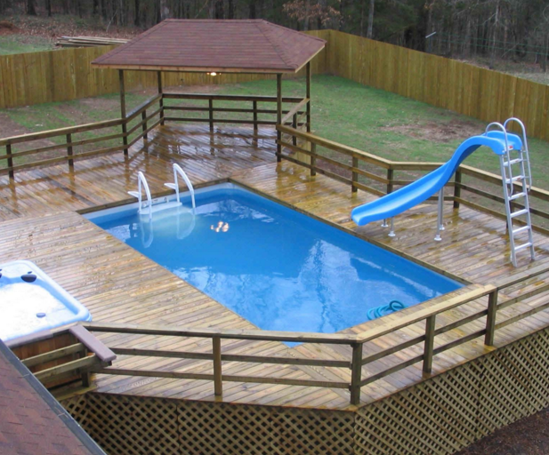 How to Build a Deck Next to an Above Ground Pool ...