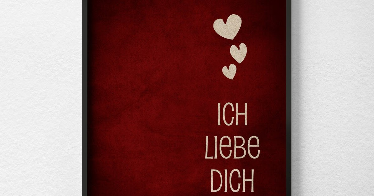 Liebe Dich / Ich Liebe Dich Lettering With Small Heart