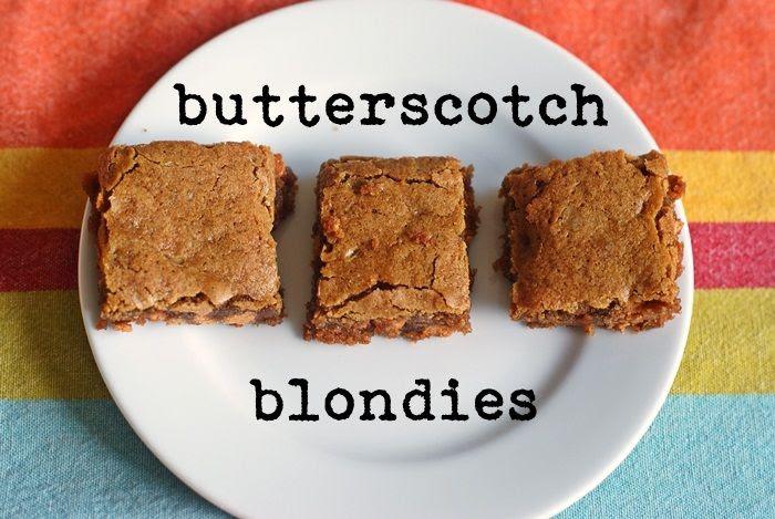 salted butterscotch blondies