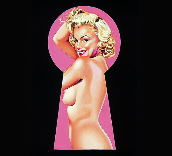 """A partir de 4 de março, """"Quero Ser Marilyn Monroe!"""" traz a obra em litografia """"Peek-a-Boo"""", de Mel Ramos"""