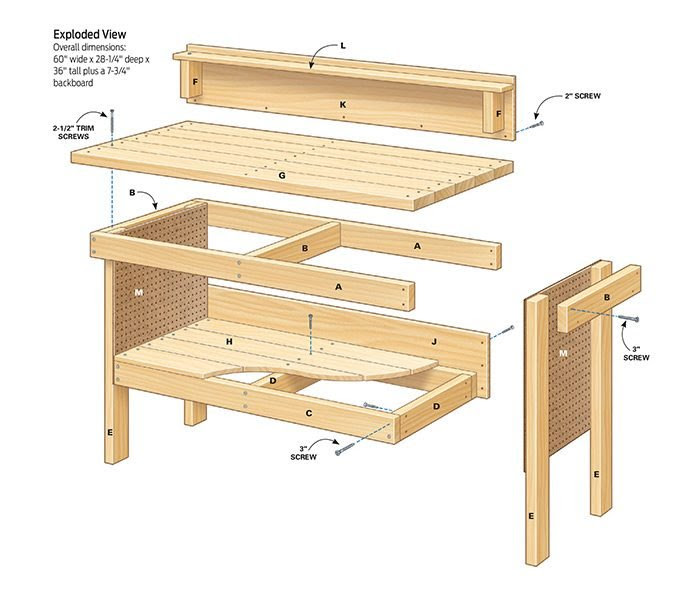 Woodworking Plans Workbench Somewhere Woodworking