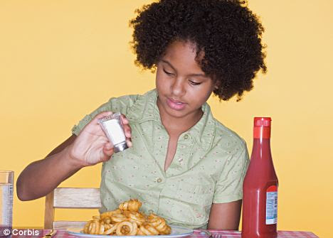 Don't add salt: Our diets are already salt-heavy with 80% coming from processed foods