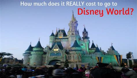 How much does it REALLY cost to go to Disney World?