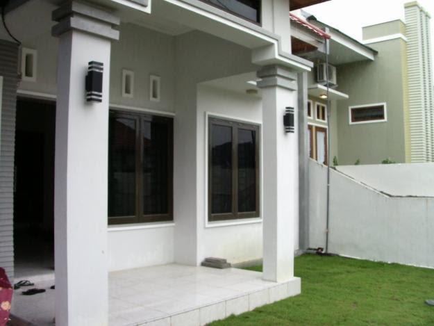 teras rumah: Contoh gambar desain model tiang teras rumah minimalis