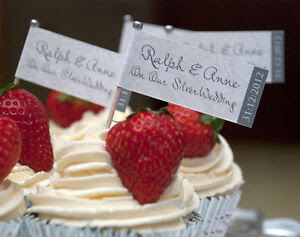 20 PERSONALISED SILVER RUBY GOLDEN WEDDING ANNIVERSARY CAKE