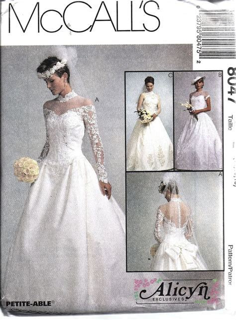 8047 UNCUT Vintage McCalls Sewing Pattern Misses Bridal