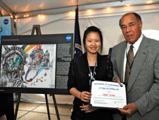 Ja Hyun (Ashely) Lim and Fred Gregory, former NASA Deputy Administrator and former shuttle astronaut