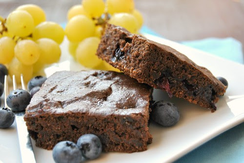 Carob and Blueberry Vegan Squares
