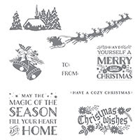 Cozy Christmas Wood-Mount Stamp Set by Stampin' Up!