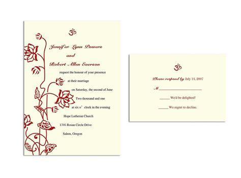 Wedding Invitation Response Card : Wedding Invitation