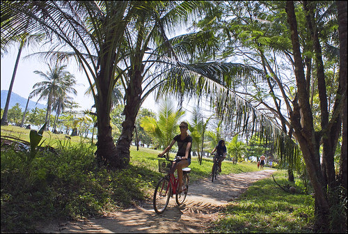 Bicycles at Koh Rang Yai island