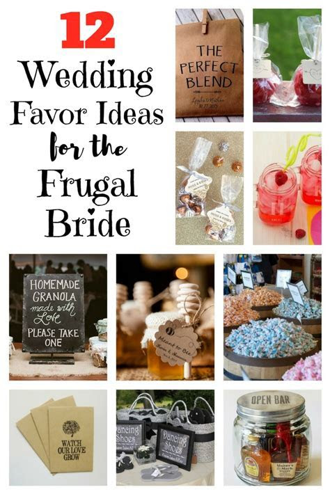 12 Wedding Favor Ideas for the Frugal Bride   The Budget Diet