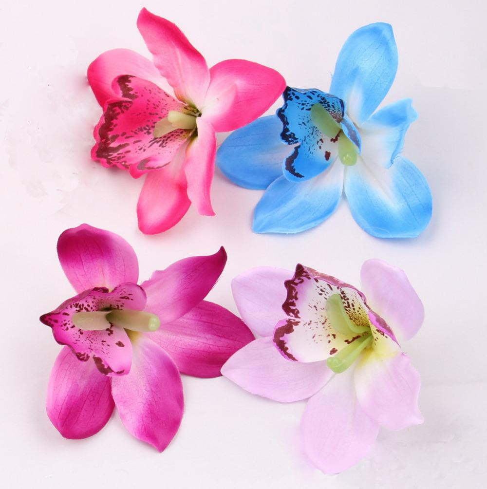 Best Wholesale Wholesale 12cm Silk Orchid Flower Heads