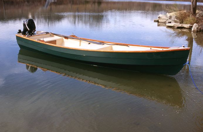 Home built fishing motor boat from plans - Lutra Laker