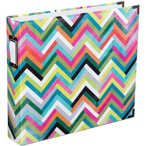 Becky Higgins - Project Life - Heidi Swapp Collection - Album - 12 x 12 D-Ring - Multi Chevron