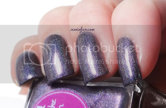 xoxoJen's swatch of Cupcake Polish Neither Here Noir There