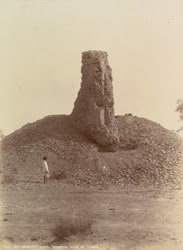 Brahmanabad, Hyderabad District, Sindh. General view of tower