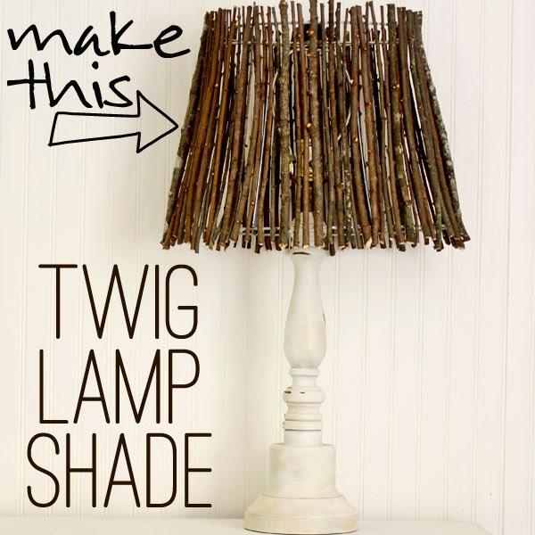 Diy Twig Lamp Shade