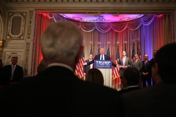 Donald J. Trump spoke on Tuesday night at Mar-A-Lago in Palm Beach, Fla.
