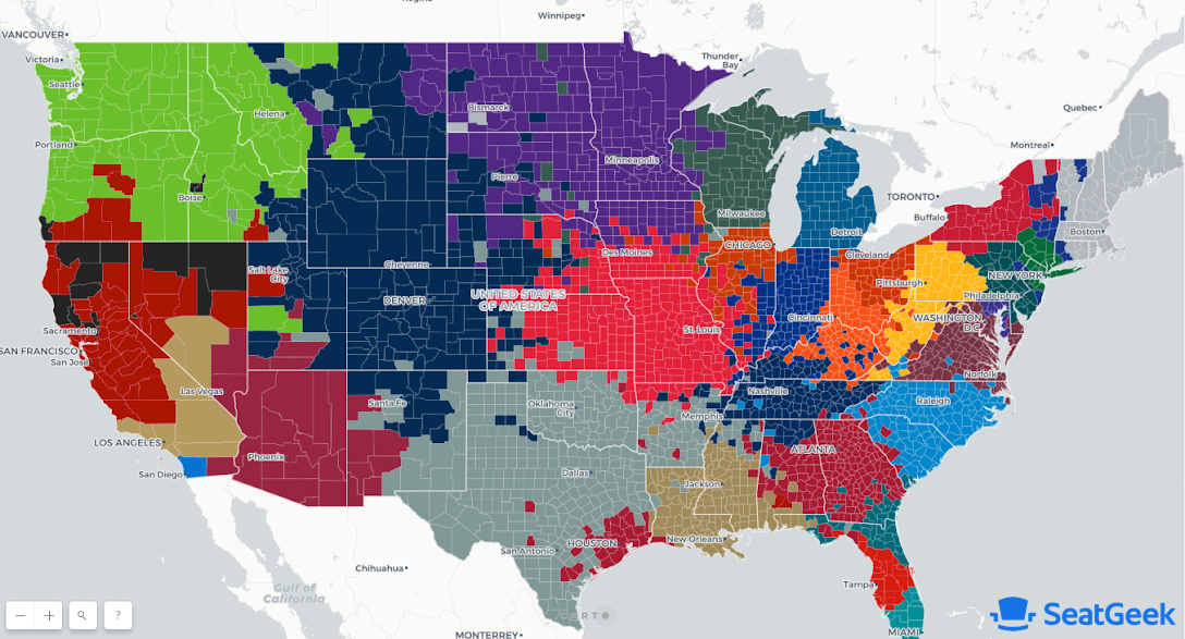 Where Do Nfl Fans Live Mapping Football Fandom Across The