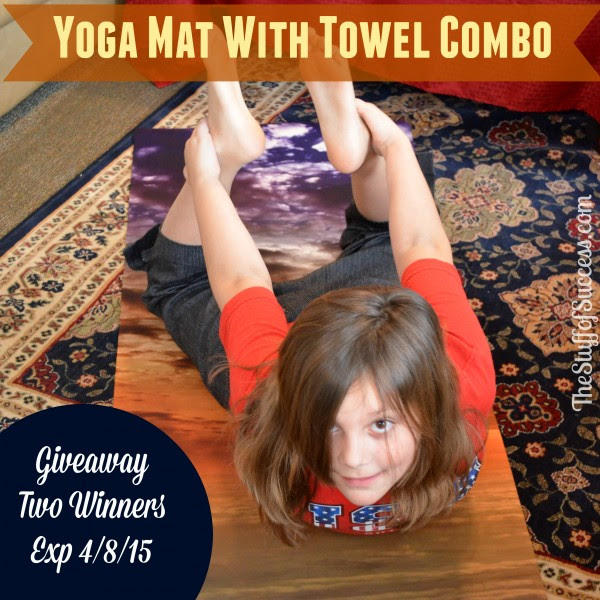 Enter the Yoga Mat With Towel Combo Giveaway. Ends 4/8.